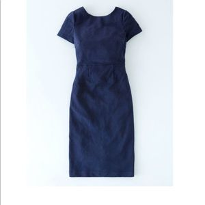 Boden Elsa Ottoman Dress Navy